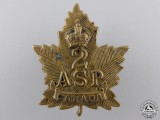 A First War Canadian 2nd Ammunition Sub Park Company Collar Tab