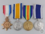 A First War Naval Long Service Group to Leading Seaman  Hull