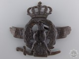 A First War Romanian Air Force Cap Badge