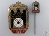 A German Imperial Shooting Association Badge with Stickpin