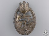 A Late War Tank Assault Badge; Silver Grade