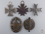 A Lot of Five Third Reich Awards and Badges