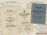 A Luftschutz Service & Award Documents to Bernhard Reelfs
