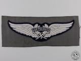 A Luftwaffe-Luftschutz Cloth Side Cap Insignia