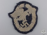 A Luftwaffe Observers Badge; Cloth Version