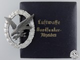 A Luftwaffe Radio Operator & Air Gunner Badge by Juncker