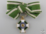 A Miniature Saxon Order of Albert in Gold