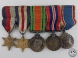 A Miniature Second War GVI Coronation Medal Bar