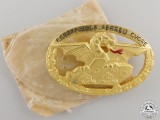 A Mint Second War Italian Commnader's Tank Badge with Packet