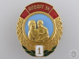 A Mongolian Order of the Glory of Motherhood; 1st Class
