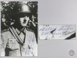 A Post War Signed Photograph of Knight's Cross Recipient; Walter Kuhn