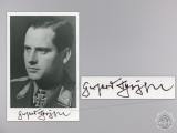 A Post War Signed Photograph of Knight's Cross Recipient; Schöpfel