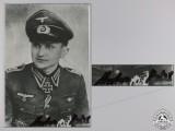 A Post War Signed Photograph of Knight's Cross Recipient; Merten