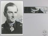 A Post War Signed Photograph of Knight's Cross Recipient; Nökel