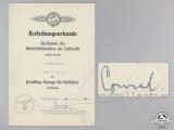 A Reconnaissance Squadron Clasp Award Document; Bronze Grade
