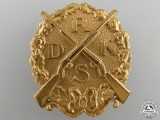 A Reich Association of German Small-Caliber Rifle Badge; Large Gold Grade