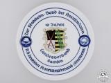 A Saxon Steel Helmet League of Frontline Soldiers Tenth Anniversary Plate