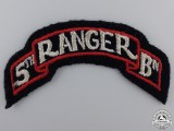 A Second War 5th Ranger Battalion Shoulder Flash; D-Day