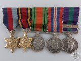 A Second War & Malaya Miniature Medal Group