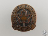 A Second War Canadian Applicant for Enlistment Badge
