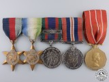 A Second War Canadian Naval Group with Canadian Forces Decoration