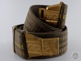 A Second War Czechoslovakian Officer's Belt with Buckle