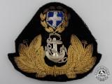 A Second War Greek Royal Hellenic Officer's Cap Badge