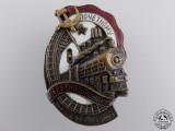A Soviet Honoured Railway Employee Badge; Bronze Grade