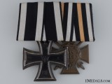 A WWI German Medal Bar; Reichsverband Pforzheim