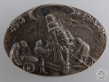 A WWI Hungarian Artillery Unit Commemorative Badge 1914-1916