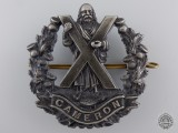 A WWI Queen's Own Cameron Highlanders Officer's Glengarry Badge  consignment 27