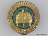 WWII Period Hungarian Gendarmerie Cap Badge