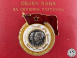 A Yugoslavian Order of Labour with Red Banner; 1st Class