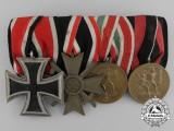 A Second War German Medal Bar of Four