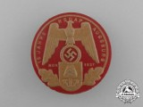"A 1937 ""15 Years of NSDAP in Augsburg"" Celebration Badge by E. O Friedrich"