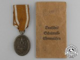 A German Defence Wall (West Wall) Medal with E. F. Wiedmann of Frankfurt