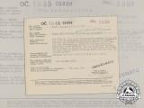 A Croatian/German/Italian Award Document to Machine Gunner Franz Laszakovits