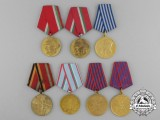 Seven Socialist European Medals & Awards