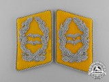 A Mint and Unissued Set of Luftwaffe Flight/Paratrooper Oberstleutnant Rank Collar Tabs