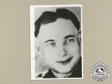 A Post War Signed Photo of Knight's Cross Recipient SS-Oberscharführer Philipp Wild