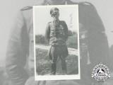A Post War Signed Photo of SS Officer Karl Kreutz; Oak Leaves Recipient