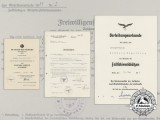 A Very Fine Group of Award Documents to Fallschirmjäger & POW