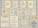 A Large Lot of Documents to Julius Maier; Award & Family Documents, & Post-War Employment References