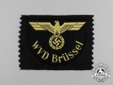 A Mint and Unissued Reichsbahn WVD Brüssel Sleeve Eagle