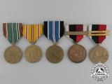 Five American Second War Medals & Awards