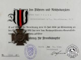 A Prince Alfons Medal & Hindenburg Cross Group to Karl Grotz