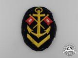A Kriegsmarine Signals NCO's Career Sleeve Patch