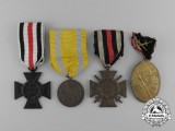 Four German Imperial Medals and Awards