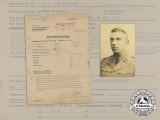 A Superb Oak Leaves Recommendation Document Group to SS Obersturmbannführer