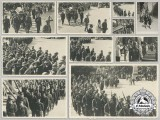 A Set of Second War Croatian Photos of the Funeral of Ustaša Officer Vilim Ainzić